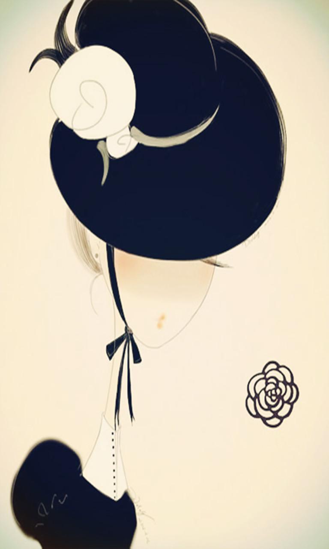 黑白插画手机壁纸